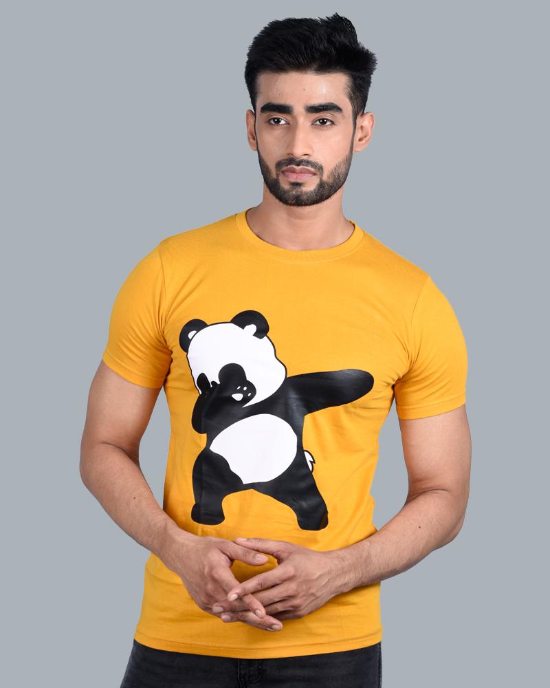 Tom Hiddle Cotton Round Neck Men Bear Print T-Shirt