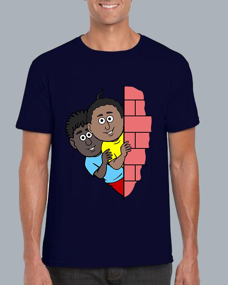 Natia Gendu Wall View Roundneck Navyblue  T-shirt