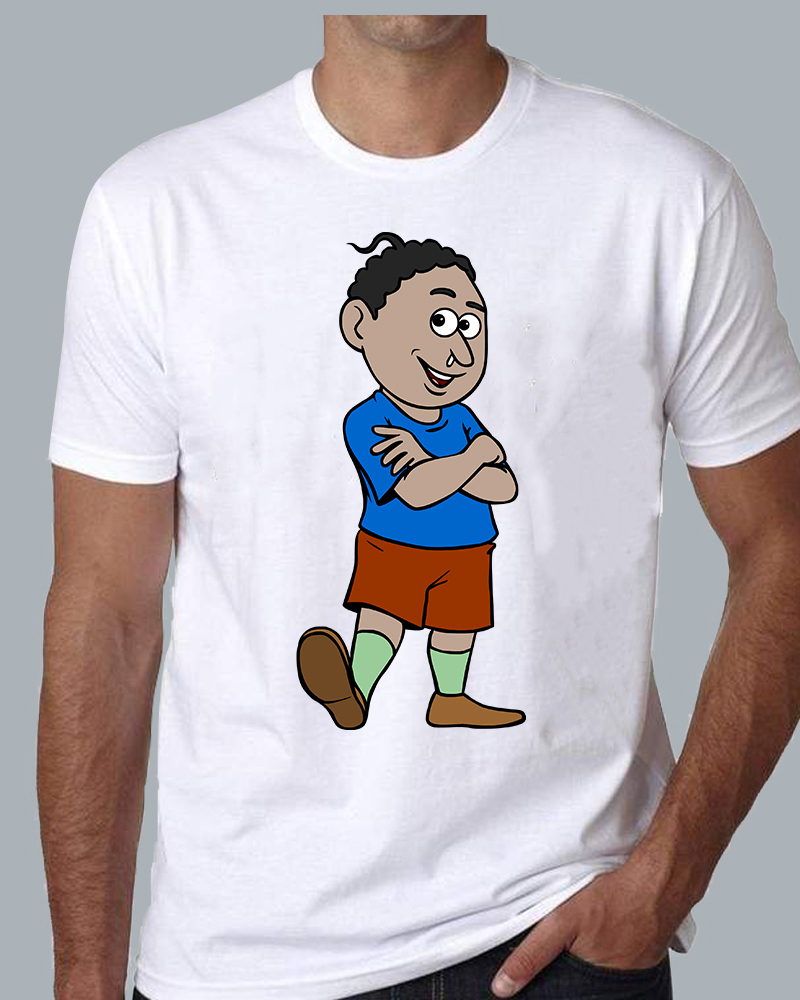 Natia Standing View White T-shirt for Men, women & kids