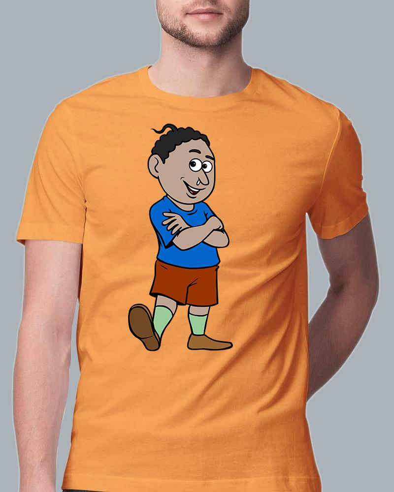 Natia Standing View yellow T-shirt for Men, women & kids